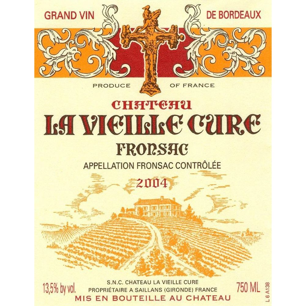 Chateau La Vieille Cure  2004 Front Label