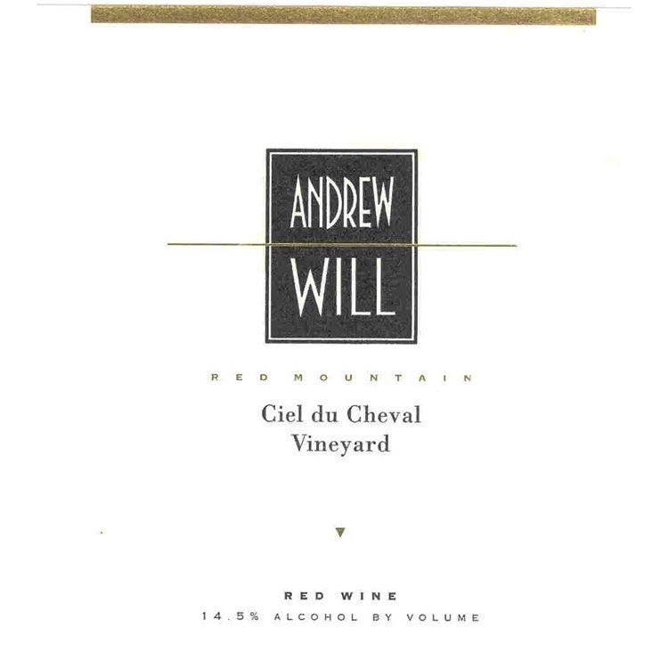 Andrew Will Winery Ciel du Cheval 2012 Front Label