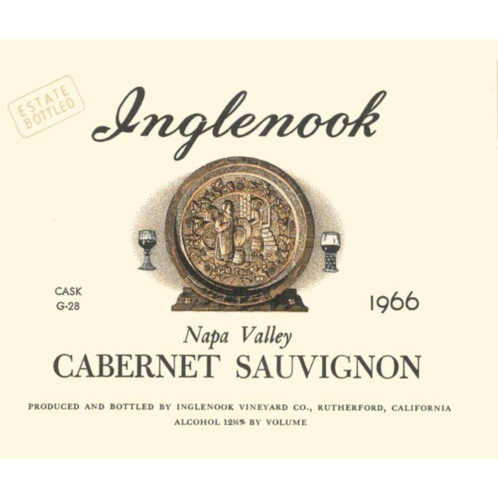 Inglenook Napa Valley Cask G-28 Cabernet Sauvignon 1966 Front Label