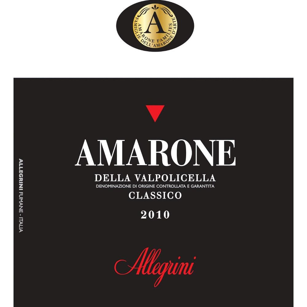 Allegrini Amarone 2010 Front Label