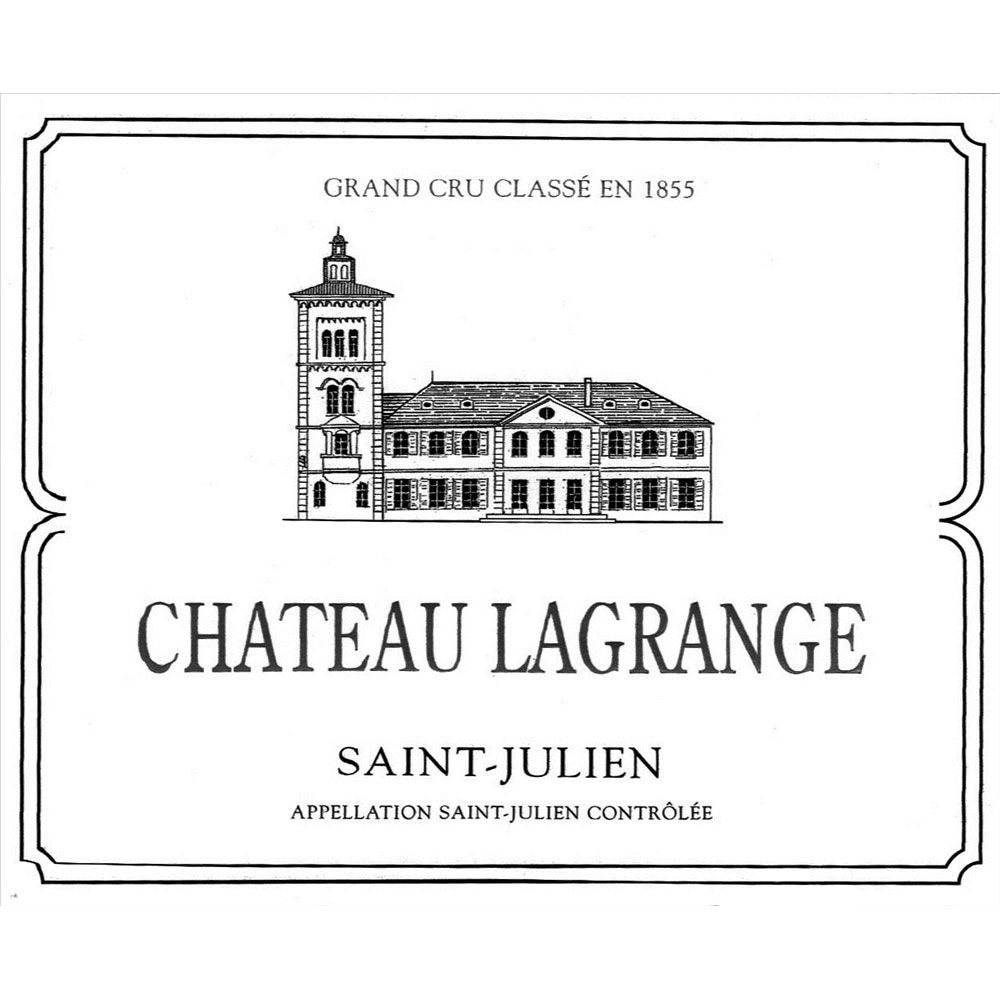 Chateau Lagrange  1990 Front Label