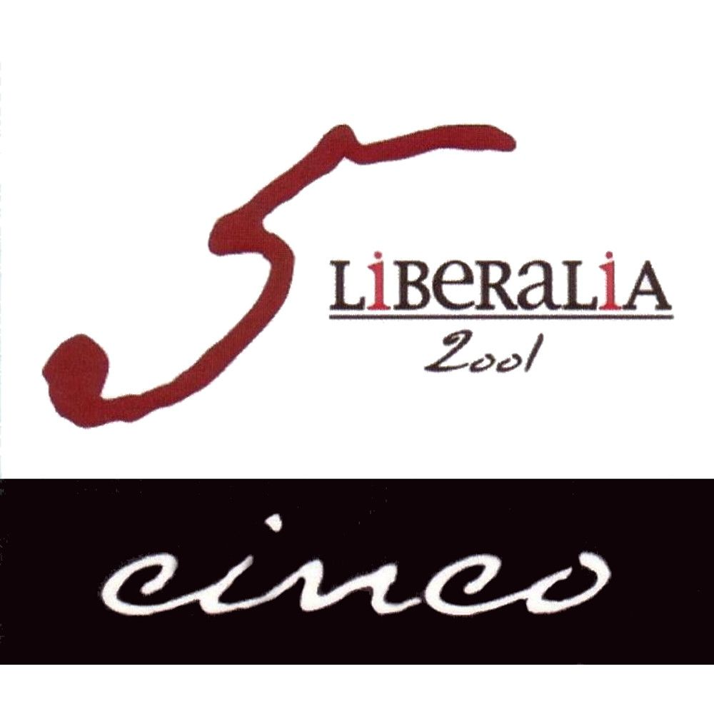 Liberalia Cinco Reserva 2001 Front Label