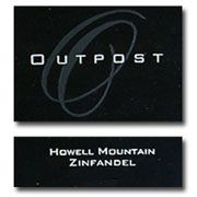 Outpost Howell Mountain Zinfandel 2010 Front Label