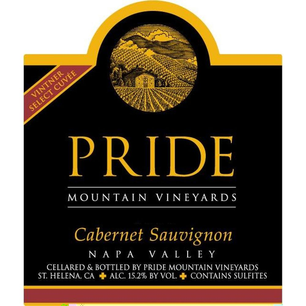 Pride Mountain Vineyards Vintner Select Cabernet Sauvignon 2008 Front Label