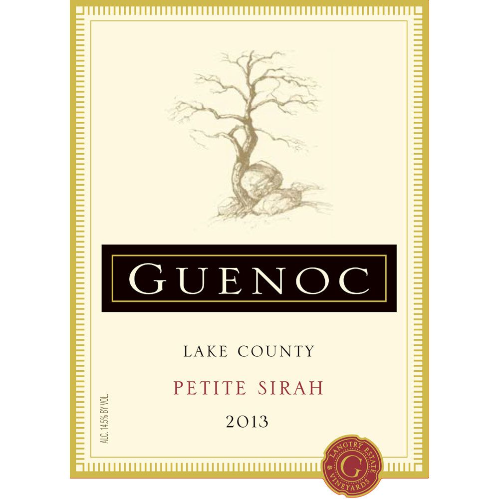 Guenoc Lake County Petite Sirah 2013 Front Label