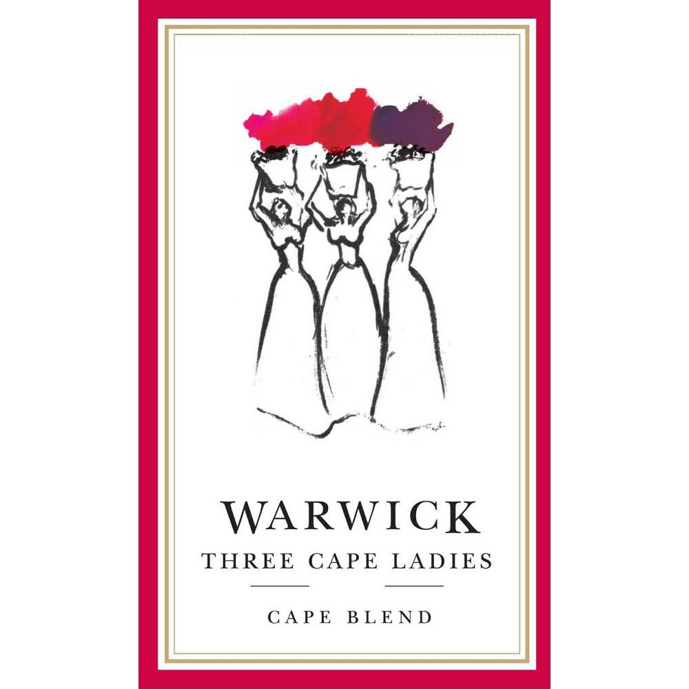 Warwick Estate Three Cape Ladies 2012 Front Label