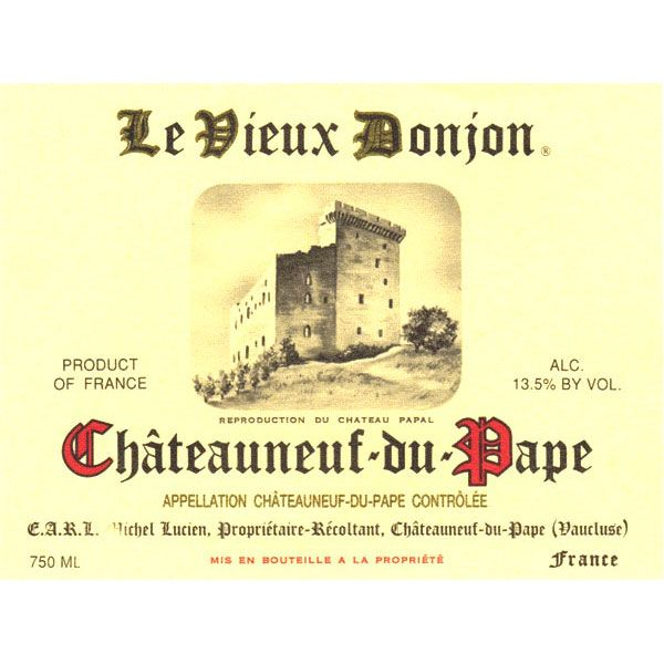 Le Vieux Donjon Chateauneuf-du-Pape (375ML half-bottle) 2011 Front Label