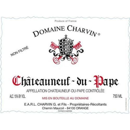 Domaine Charvin Chateauneuf-du-Pape 2000 Front Label