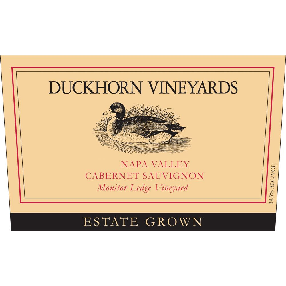 Duckhorn Monitor Ledge Vineyard Cabernet Sauvignon 2001 Front Label