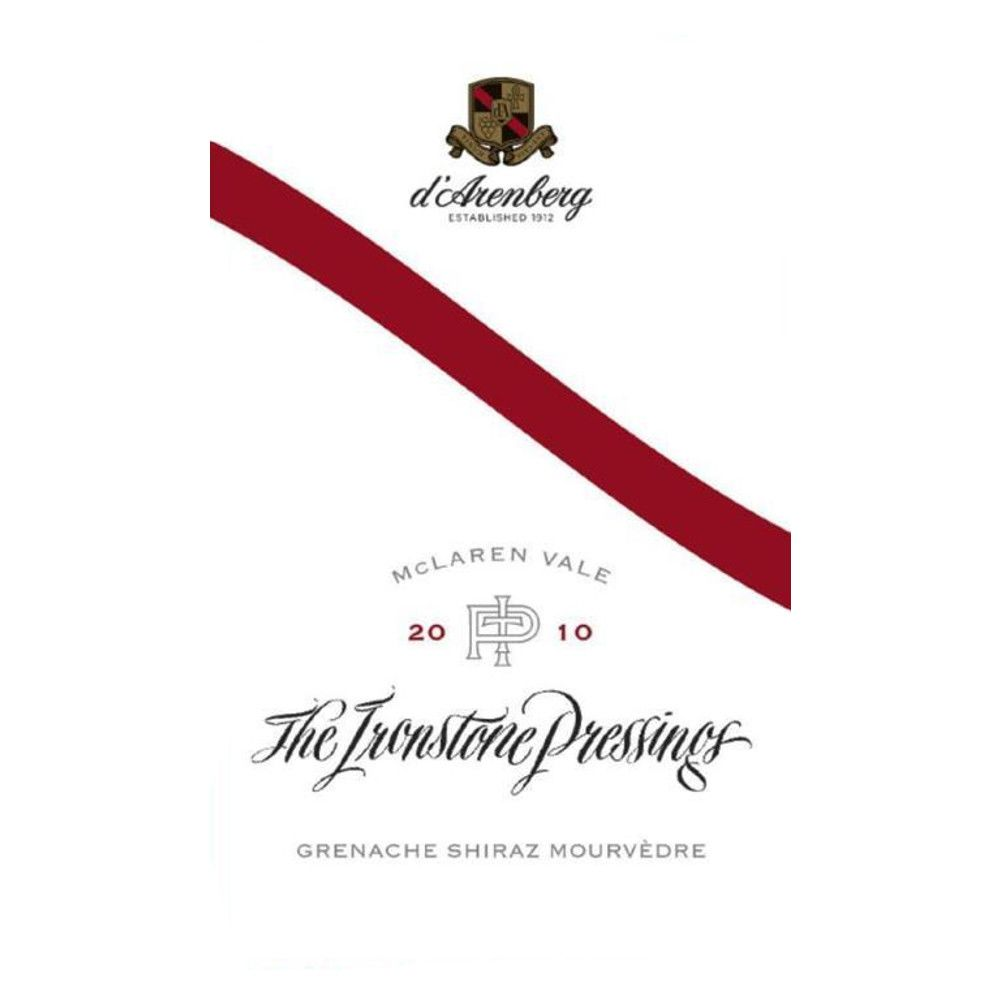 d'Arenberg The Ironstone Pressings 2010 Front Label