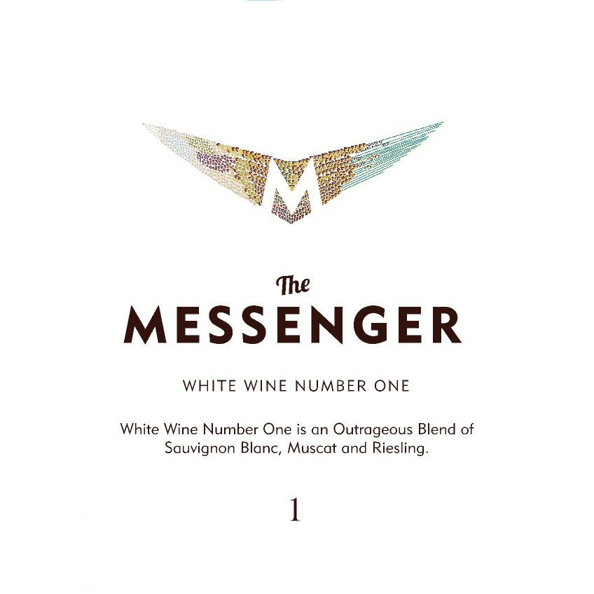 The Messenger Number One White Blend Lot 314 Front Label