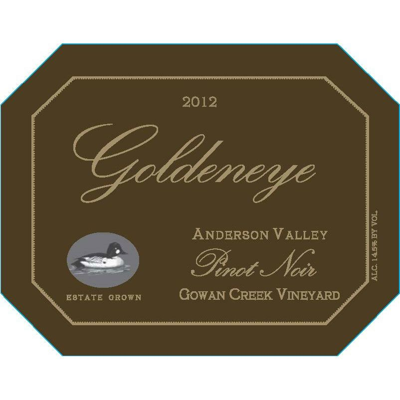 Goldeneye Gowan Creek Vineyard Pinot Noir 2012 Front Label