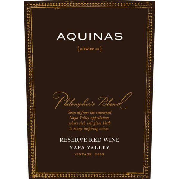 Aquinas Philosopher's Red Blend 2009 Front Label