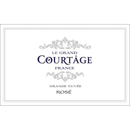 Le Grand Courtage Rose Brut (187ML Split) Front Label