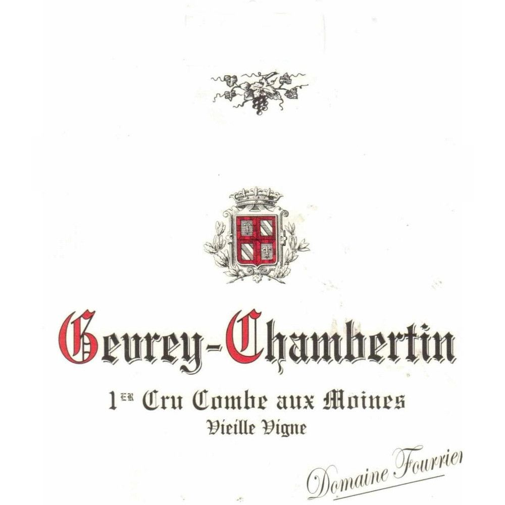 Domaine Fourrier Gevrey Chambertin Premier Cru Combe Aux Moines 2012 Front Label