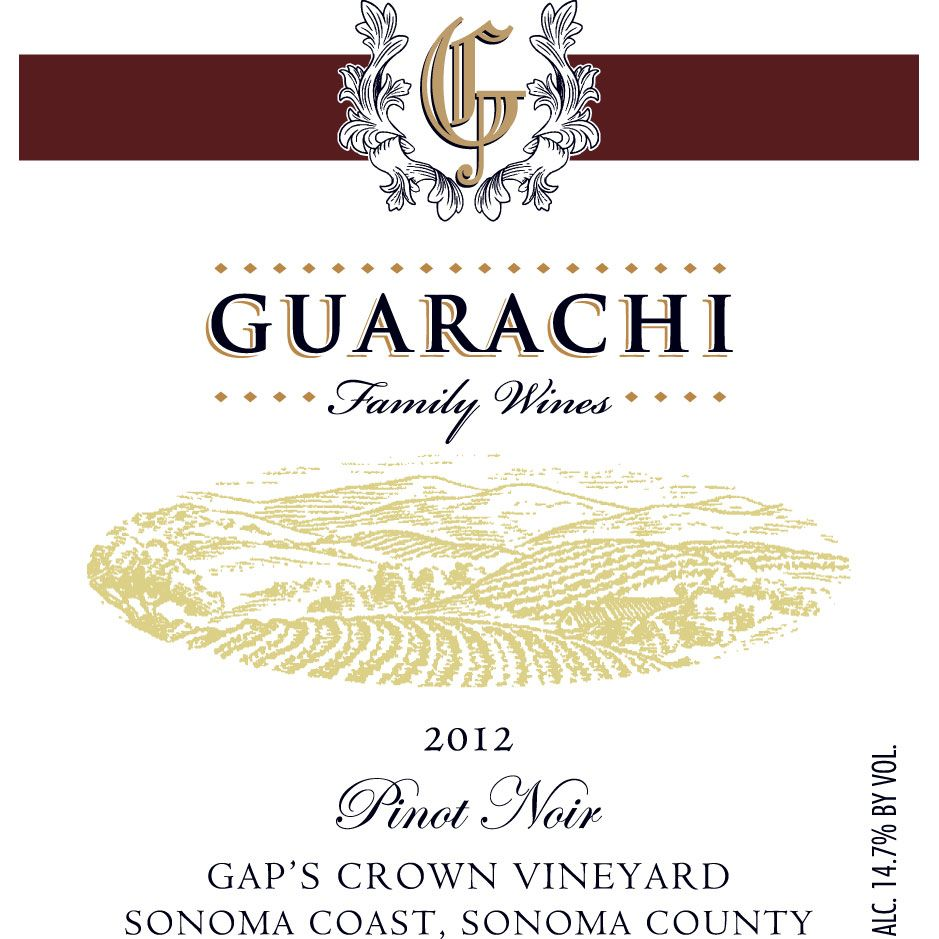 Guarachi Gap's Crown Pinot Noir 2012 Front Label
