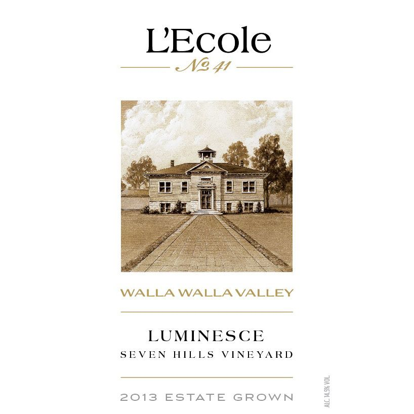L'Ecole 41 Luminesce Seven Hills Vineyard 2013 Front Label