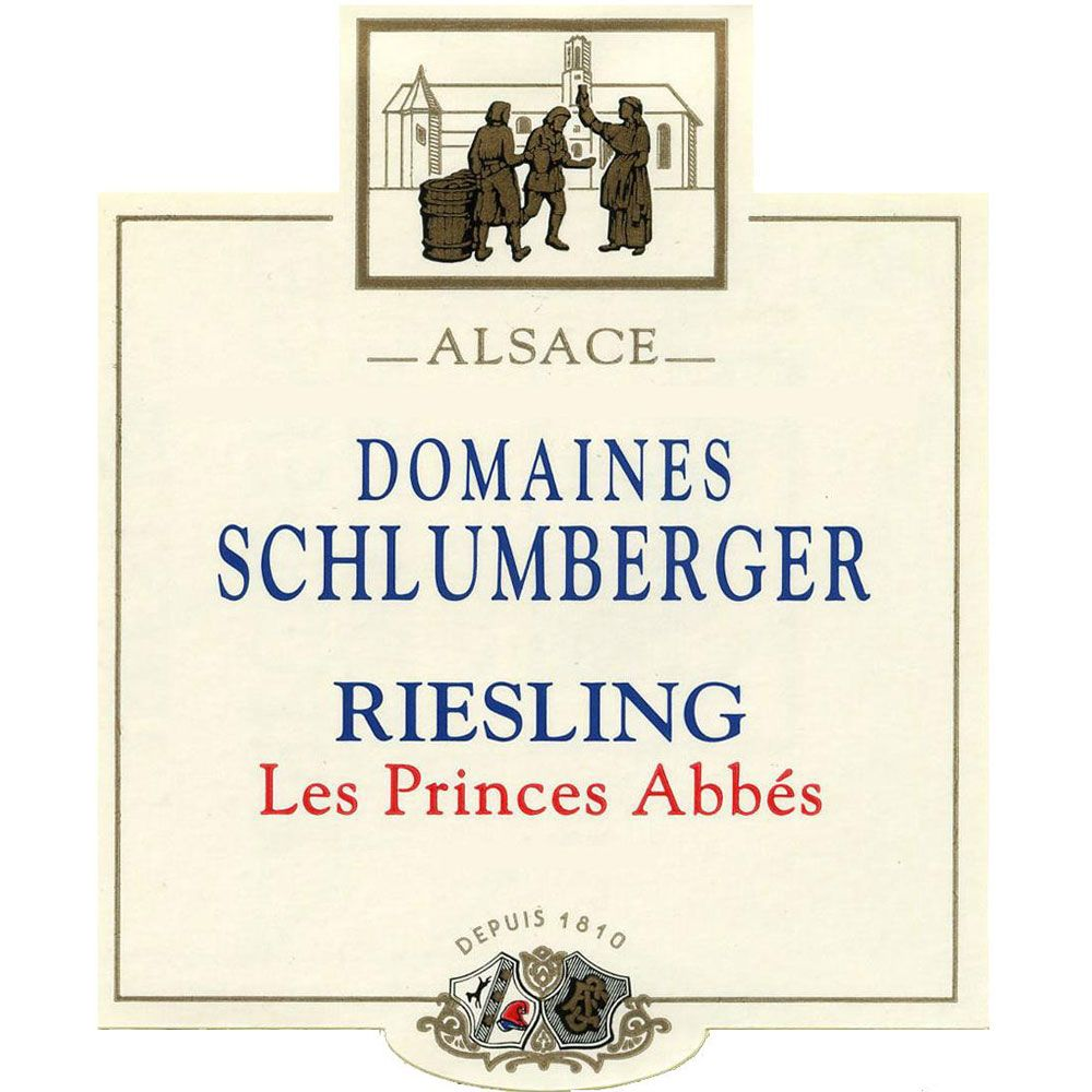 Domaines Schlumberger Les Princes Abbes Riesling 2012 Front Label