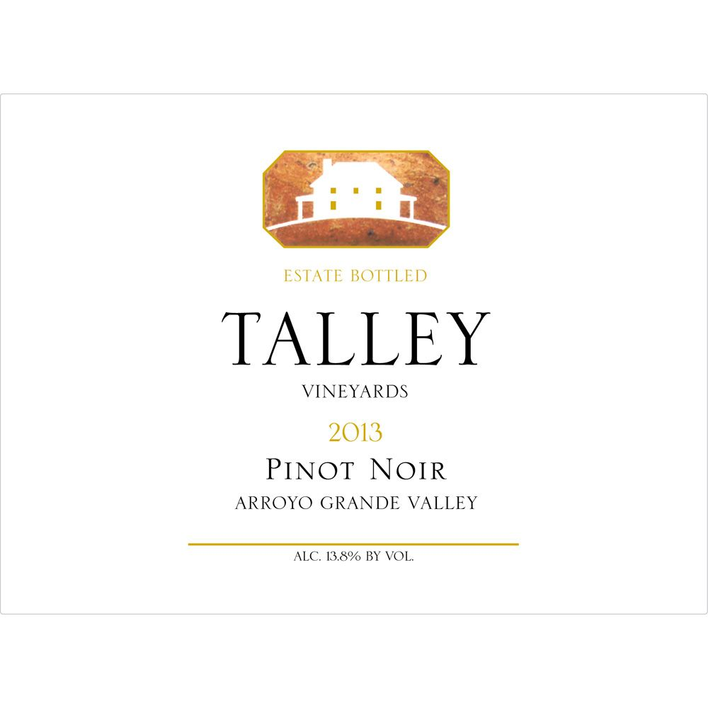Talley Arroyo Grande Valley Estate Pinot Noir 2013 Front Label