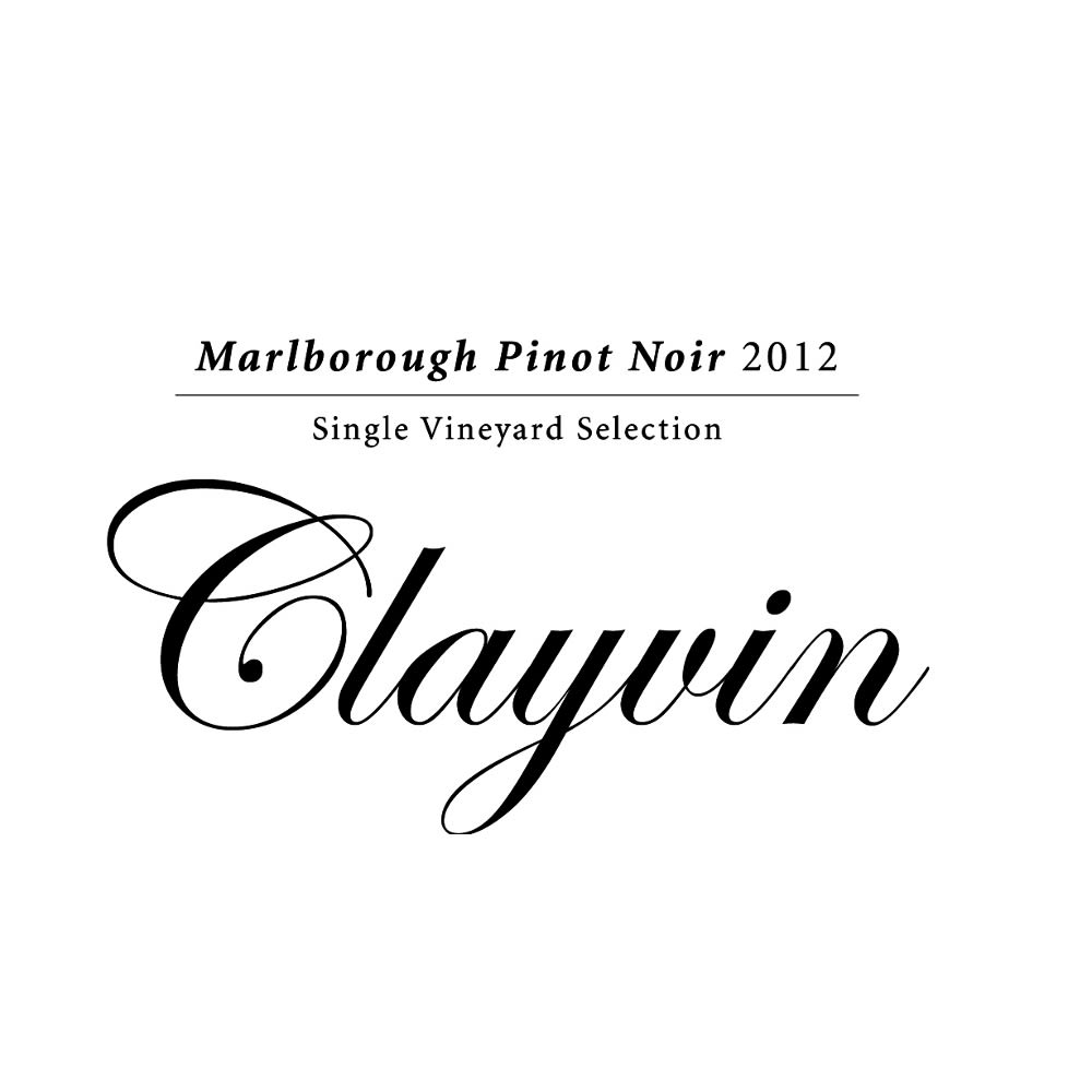 Giesen Clayvin Single Vineyard Pinot Noir 2012 Front Label