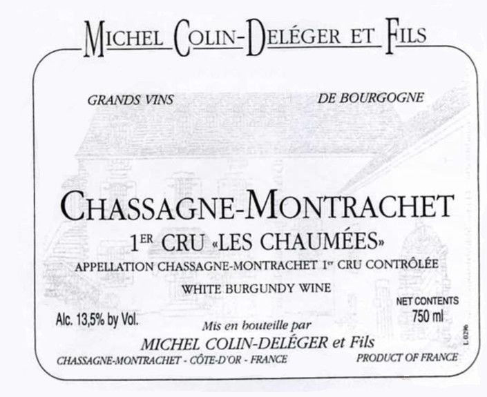 Colin-Deleger Les Chaumees 1992 Front Label