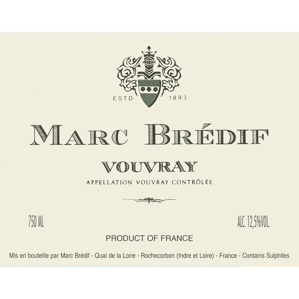 Marc Bredif Vouvray (375ML half-bottle) 2010 Front Label