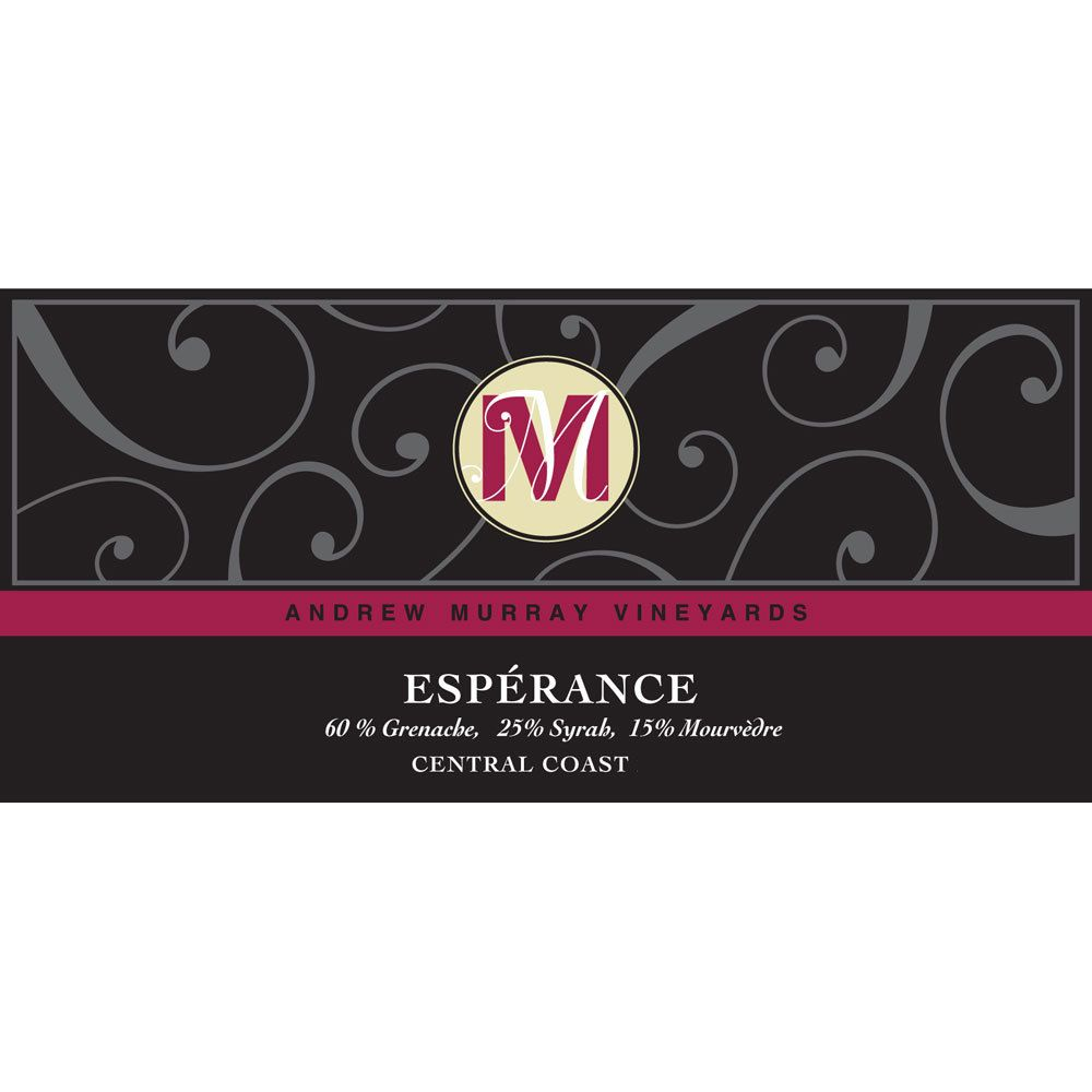 Andrew Murray Esperance Rose 2013 Front Label