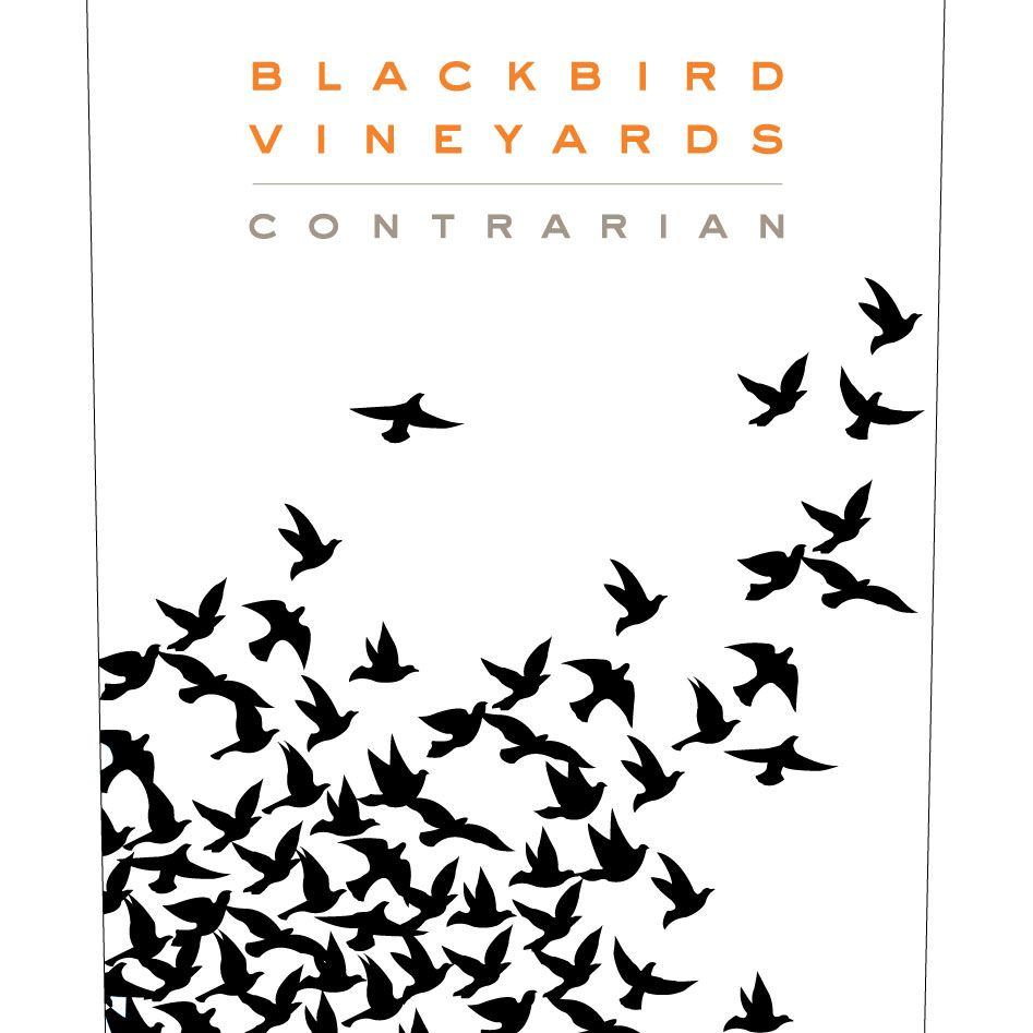 Blackbird Vineyards Contrarian Napa Valley Proprietary Red 2012 Front Label