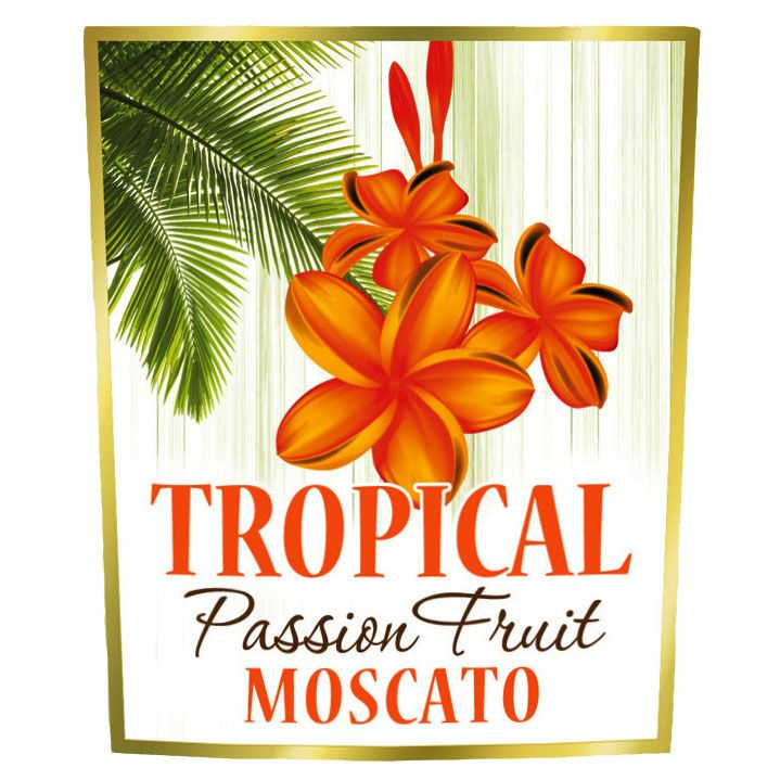 Tropical Passion Fruit Moscato Front Label