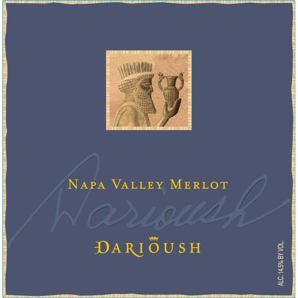 Darioush Signature Merlot 2012 Front Label