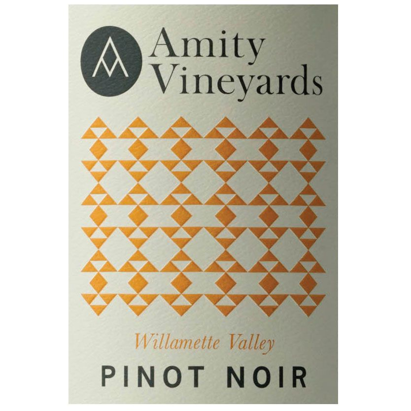 Amity Willamette Valley Pinot Noir 2013 Front Label