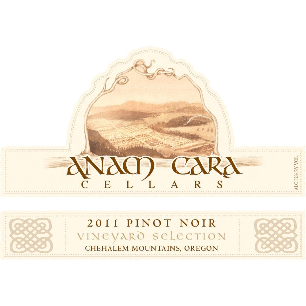 Anam Cara Vineyard Selection Pinot Noir 2011 Front Label