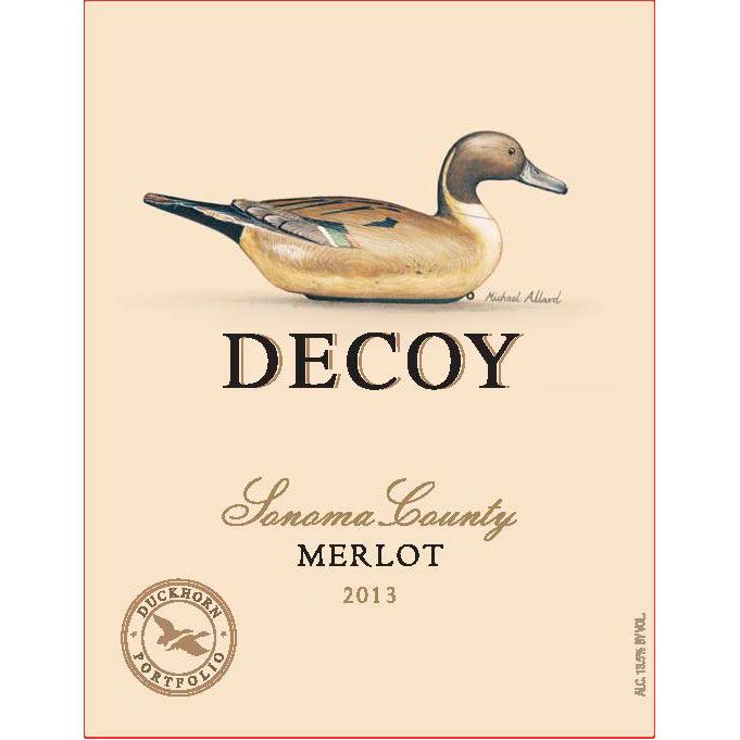 Decoy Merlot 2013 Front Label