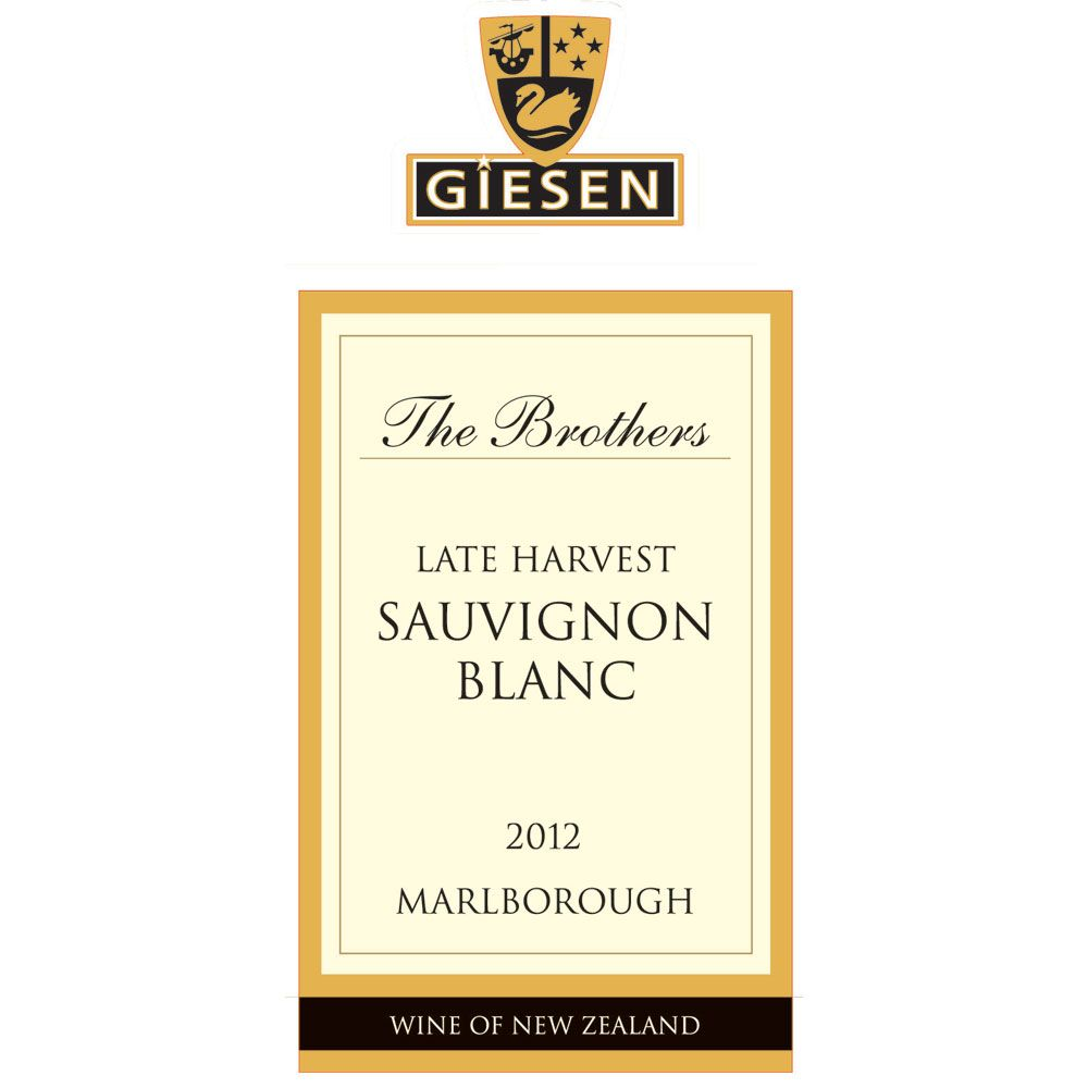 Giesen The Brothers Late Harvest Sauvignon Blanc (375ML half-bottle) 2012 Front Label