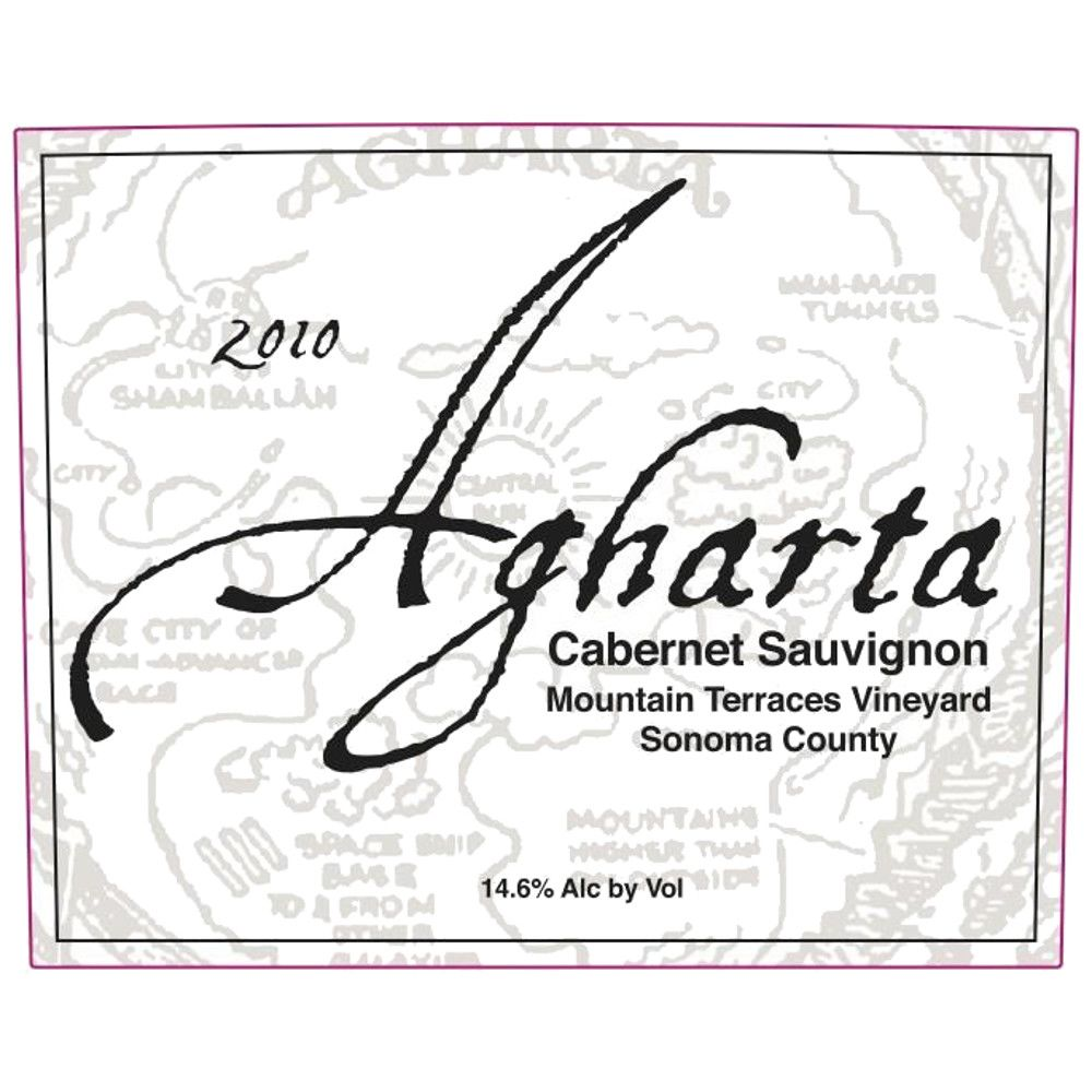 Agharta Mountain Terraces Cabernet Sauvignon 2010 Front Label