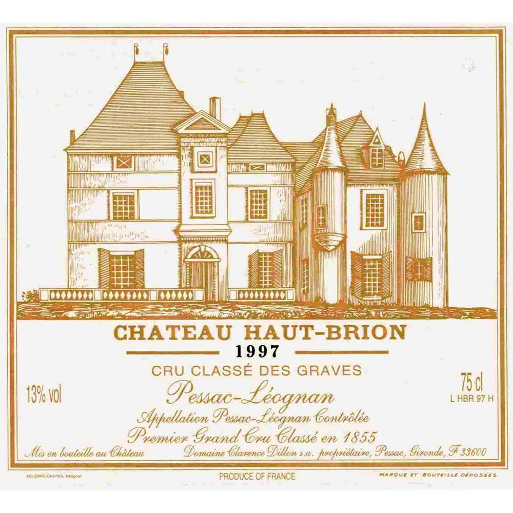 Chateau Haut-Brion  1997 Front Label