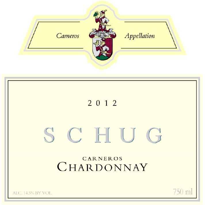 Schug Carneros Chardonnay (375ML half-bottle) 2012 Front Label