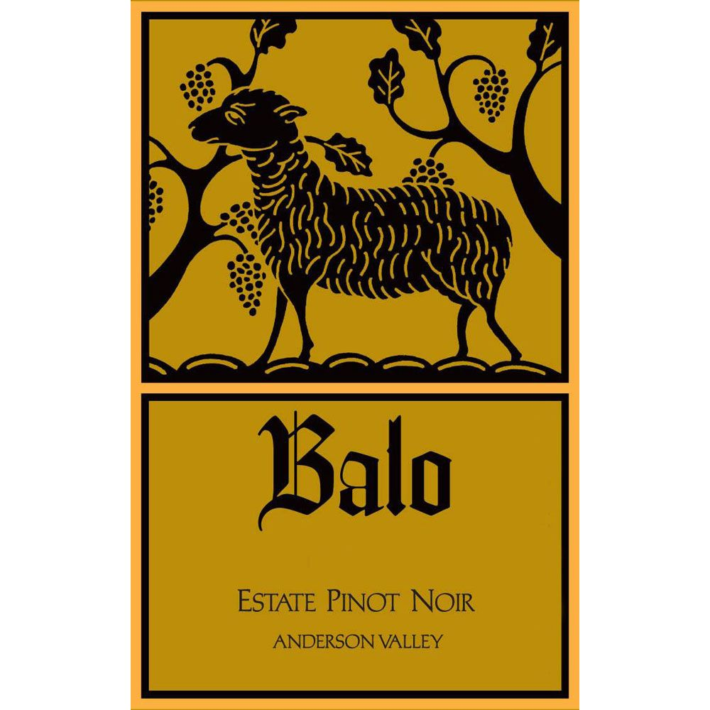 Balo Anderson Valley Estate Pinot Noir 2012 Front Label