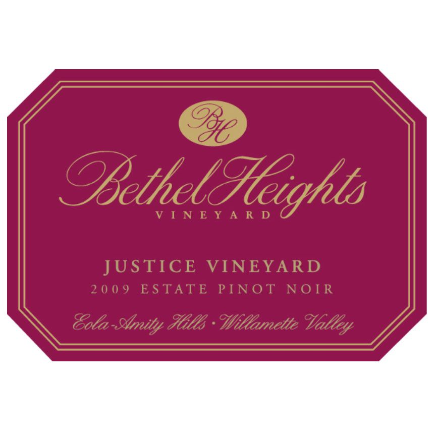 Bethel Heights Justice Vineyard Pinot Noir 2009 Front Label