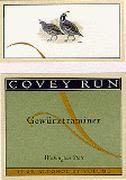 Covey Run Gewurztraminer 1999 Front Label