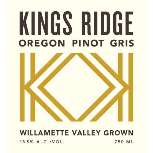 Kings Ridge Pinot Gris 2014 Front Label
