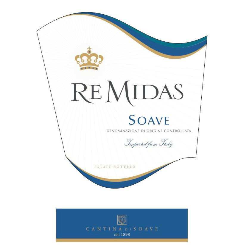 Cantina di Soave Re Midas Soave 2012 Front Label