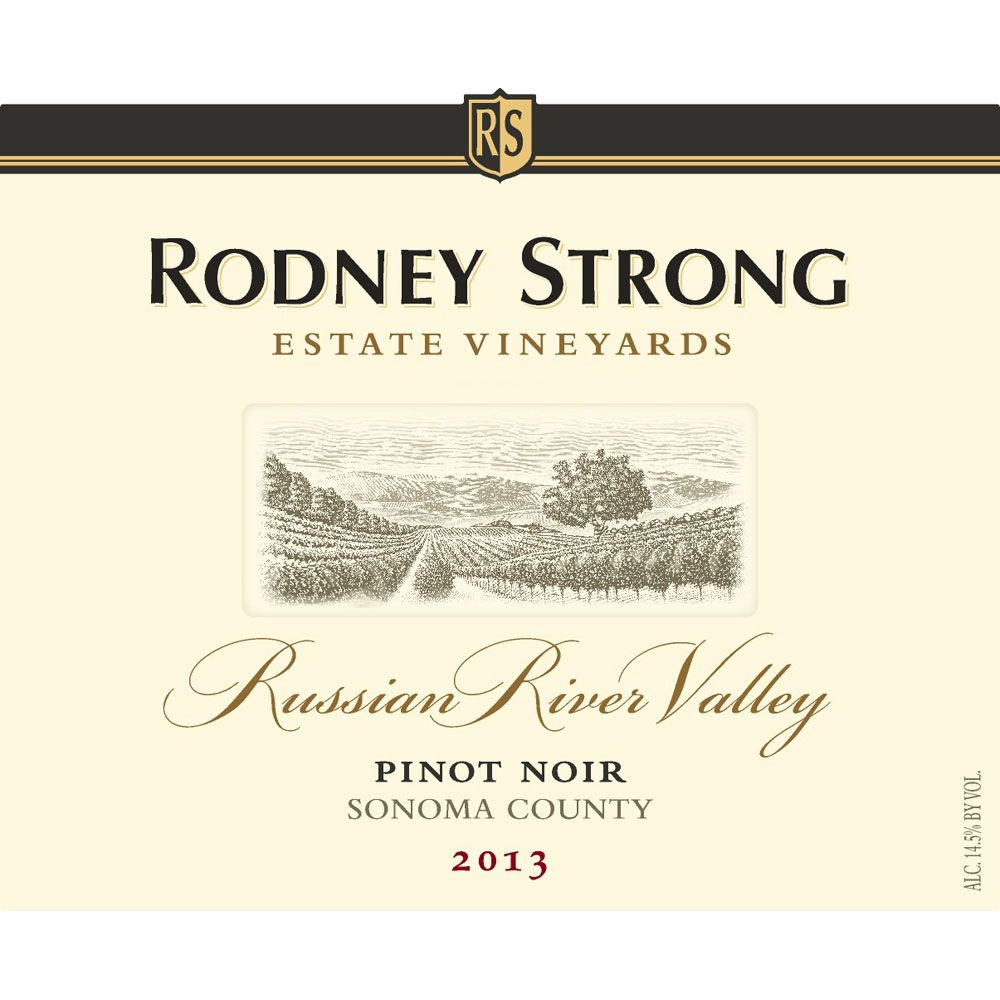 Rodney Strong Russian River Pinot Noir 2013 Front Label