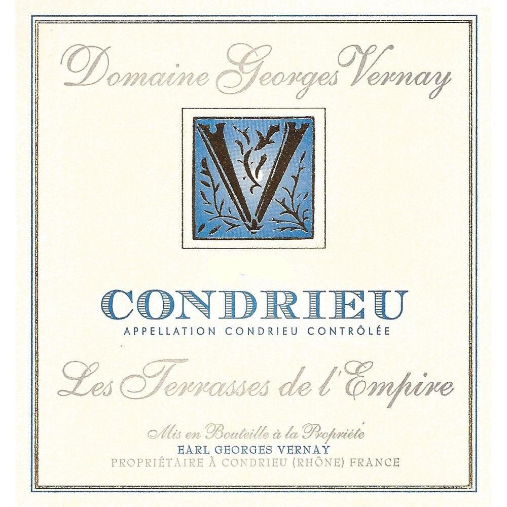 Georges Vernay Condrieu Terrasses de l'Empire 2013 Front Label