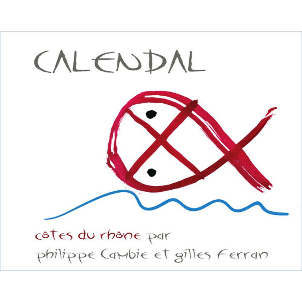 Calendal Cotes du Rhone Villages Plan de Dieu 2011 Front Label