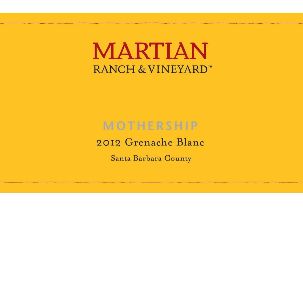 Martian Mothership Grenache Blanc 2012 Front Label