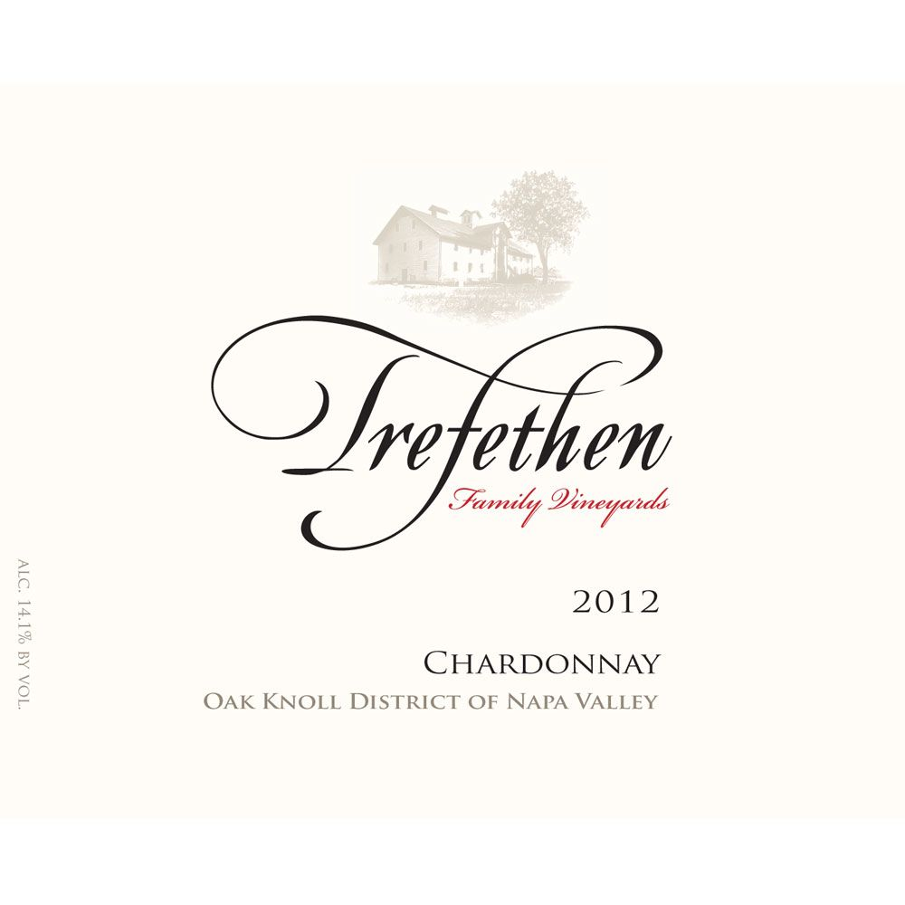 Trefethen Estate Chardonnay (375ML half-bottle) 2012 Front Label