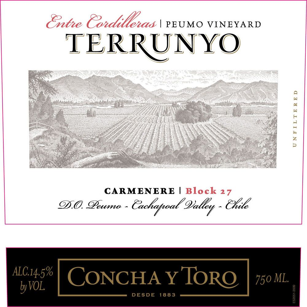 Terrunyo Peumo Vineyard Block 27 Carmenere 2011 Front Label
