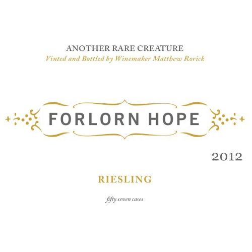 Forlorn Hope Kick-On Ranch Riesling 2012 Front Label