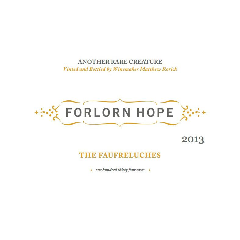 Forlorn Hope The Faufreluches Gewurztraminer 2012 Front Label